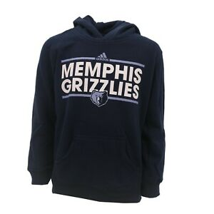 Memphis Grizzlies Official NBA Adidas Kids Youth Size Hooded Sweatshirt New Tags