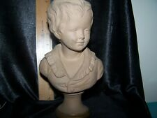 BRONGNIART BUST AFTER HOUDON ANTIQUE CLAY TERRA COTTA MADE IN FRANCE