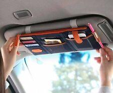 CAR Sun Visor Organizer All Vehicles Black Zippered Cel Phone Tablet Holder