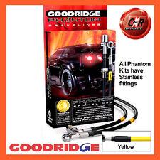 Renault Megane 3 2.0T 16V RS 10on Goodridge SS Yellow Brake Hoses SRN0616-4C-YE