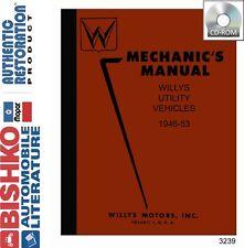 1946 1947 1948 1949 1950 1951 1952 1953 Jeep Shop Service Repair Manual CD