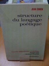 Structure du langage poétique. de J. Cohen (Editions de 1966)