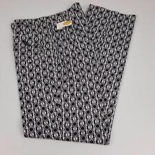 Talbots High Waist Cotton Stretch Pants Womens sz 4 Black White 28x31 NWT $108