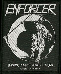 Enforcer - Death Rides Patch -metal band merch