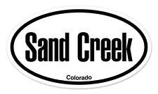 "Sand Creek Colorado Oval car window bumper sticker decal 5"" x 3"""