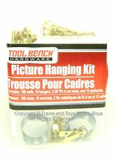 PICTURE HANGING Kit 132 PIECES Nails Wire Hooks Home Pictures Hardware New i