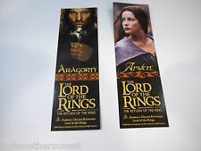 Promo Lord of Rings Merry Pippin King Theo Eowyn 2sided bookmark Return of King