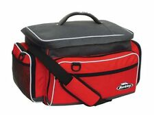 Berkley Red Fishing Tackle Bag W/ 4 Medium Utility Boxes Fresh & Salt Water 5A1