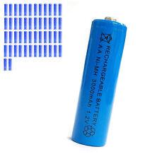 50 pcs AA 2A 3000mAh 1.2V Ni-MH rechargeable battery Solar Light MP3 Toy Blue