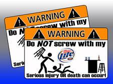 Miller Lite Beer Can Warning Sticker Decal Drink bottle