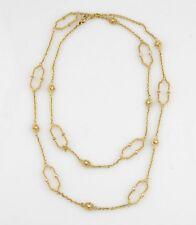 Judith Ripka 18 Quilates Oro Amarillo Diamante Chelsea Eslabones Collar