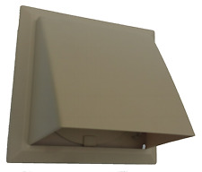 """150mm 6"""" beige cowl with non return flap for core vent / extractor fan etc"""