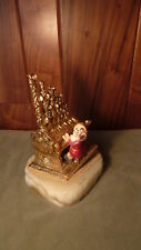 ‌VINTAGE 1994 GRUMPY DISNEY DWARF PLAYING FANTASTIC PIPE ORGAN RON LEE SCULPTURE