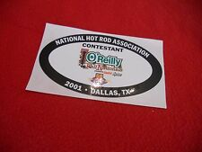 NHRA drag racing 2001 O'Reilly Fall Nationals Dallas TX. contestant decal 50 yrs