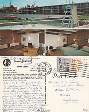 1970's HOWARD JOHNSON MOTOR LODGE WESTFIELD MASS UNITED STATES COLOUR POSTCARD