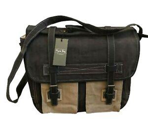 MYRA BAG 1962 Upcycled Canvas Unisex Messenger Bag S-0749 - BRAND NEW!