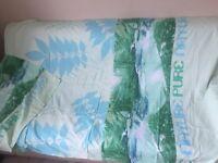 parure de lit housse de couette + taie NATURE réversible ENVOI OFFERT vert 1pers