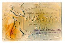 POSTCARD FRENCH ADVERTISING PRINTER PARIS EMBOSSED IMANS & POTTIER