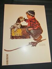 Norman Rockwell Winter - Lot of 15 Prints (1958) Free Shipping