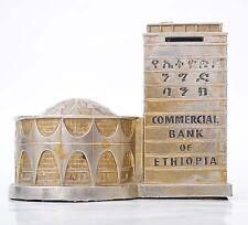 Piggy bank landmark Haile Selassie National bank of Ethiopia memorabilia