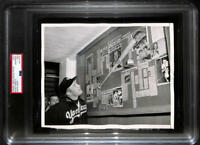 Mickey Mantle 565 Ft Home Run Bat Original Photo. 1953 United Press. Type 1 PSA