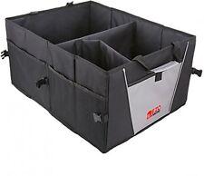 Coche Organizador De Arranque Tronco Plegable Caja de almacenamiento ordenado de Compras, Bolso Negro Cesta