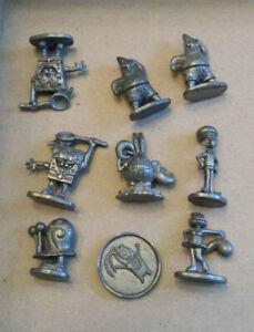 9 metal character tokens from SpongeBob Squarepants Monopoly games