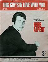 Herb Alpert This Guy's In Love With You by Burt Bacharach & Hal David Pub. 1968