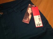 NWT Womens Jeans Skinny Super Stretch Size 8 Teal Colored