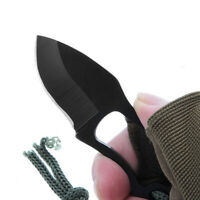 Mini Pocket Finger Paw Self-Defence Survival Fishing Neck Knife With Sheath Tool