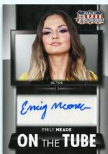 Emily Meade 2015 Panini Americana Actor On the Tube Auto Autograph  MS-EM
