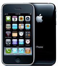 BLACK APPLE IPHONE 3G 8GB UNLOCKED CELL PHONE FIDO ROGERS CHATR TELUS BELL AT&T+