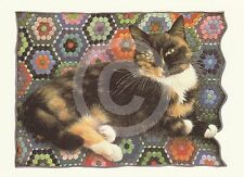 "LESLIE ANNE IVORY ""Motley on Amish Hexagon"" CAT Postcard"