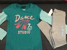 Gap Girls outfit dance ballerina pants Top shirt Size 4-5 leggings 55. NEW
