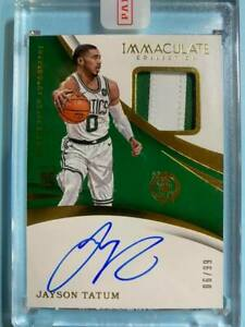 2017-18 Panini Immaculate Jayson Tatum Rc Rookie Patch Auto Autograph RPA #6/99