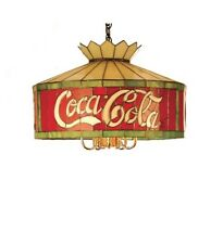 """Coca Cola 20"""" Stain Glass Light Coke Stained Glass Hanging Lamp Fixture"""