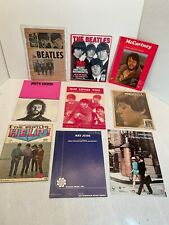 THE BEATLES & Related Vintage Sheet Music Song Books Magazine LOT