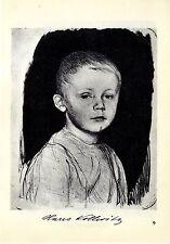 Käthe Kollwitz *  Hans Kollwitz / Selbstbild  II * Historische Grafik v. 1930