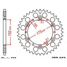 Couronne acier 51 dents yz/yzf/wr/wrf 1987-98 Jt sprockets JTR853.51