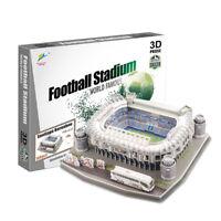 New Football field Model Santiago Bernabeu Madrid Paper DIY Toys Soccers