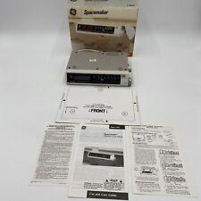 GE Spacemaker Clock Radio AM/FM Under Cabinet Kitchen In Box White-No Hardware