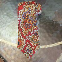Men's J. Crew Handmade Silk Necktie Tie Paisley Abstract New