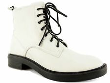 Dolce Vita Women's Bardot Combat Boots Off White Leather Size 9.5 M