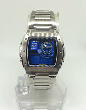 Casio Edifice Mens Chronograph Led Light Active Dial Blue-Dial Watch EFA-123D