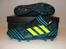 the latest b1f9c 5f8f3 Adidas Nemeziz 17.1 FG Soccer Cleats Black Blue Yellow BB6078 Men 9