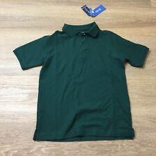 boys nautica school uniform green polo shirt husky medium 10/12