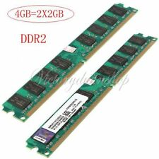 4Gb (2x2GB) PC2-6400 DDR2-800 MHZ DIMM RAM 240pin Memoria Memory PC Desktop