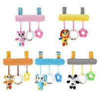 Cartoon Animal Baby Squeaky Crib Rattle Bed Stroller Hang Bell Appease Toys H1