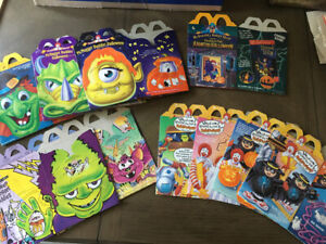 McDonald's Lot of 10 Unused Halloween Happy Meal Boxes all Different