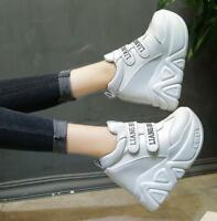 UK Womens Platform Wedge Sneakers Sport Casual Shoes Hidden High Heel Ankle Boot